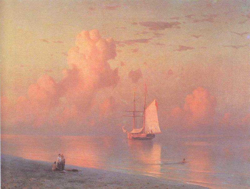 The sunset | Ivan Aivazovsky | oil painting