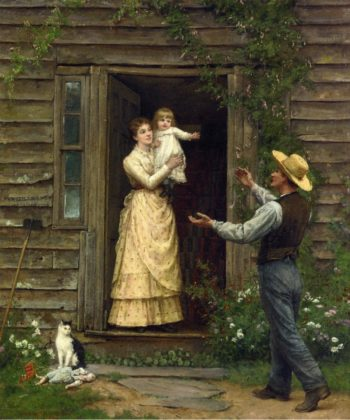 The Homecoming   Jennie Brownscombe   oil painting