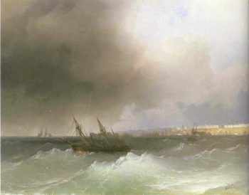 View of Odessa 3 | Ivan Aivazovsky | oil painting