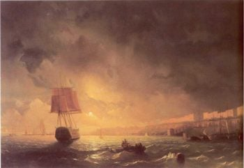 View of Odessa by Moonlight | Ivan Aivazovsky | oil painting
