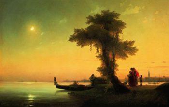 View on lagoon of Venice | Ivan Aivazovsky | oil painting