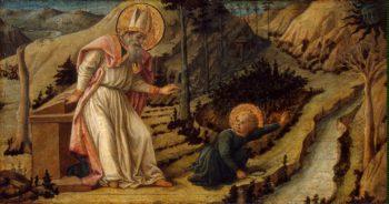 Vision of St Augustine   Lippi Filippo Fra   oil painting
