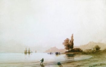 View on rocky coast | Ivan Aivazovsky | oil painting