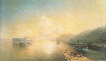 Volga near Zhigulevskie hill | Ivan Aivazovsky | oil painting