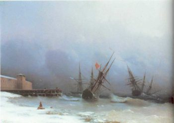 Warning of storma | Ivan Aivazovsky | oil painting