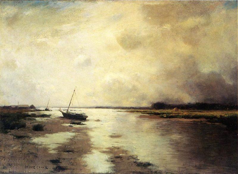 Long Island Landscape   Bruce Crane   oil painting