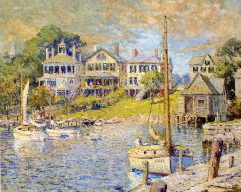 At Edgartown Marthas Vinyard   Colin Campbell Cooper   oil painting