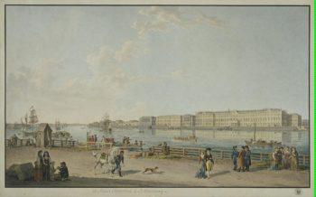 View of Palace Embankment from Vasilyevsky Island in St Petersburg | Lory Gabriel I Ludwig Lory Gabriel II Matthias | oil painting