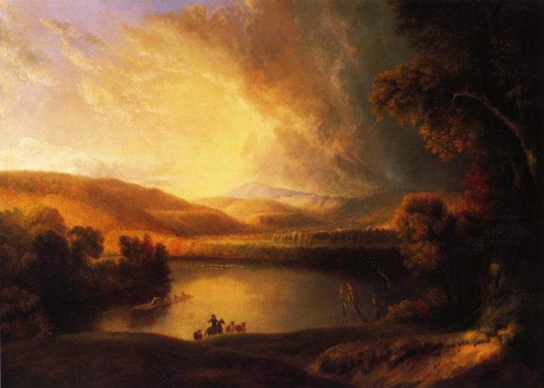 A Storm in the Valley | Alvan Fisher | oil painting