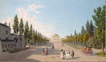 View of the Large Palace in Pavlovsk from the Park | Lory Gabriel I Ludwig Lory Gabriel II Matthias | oil painting