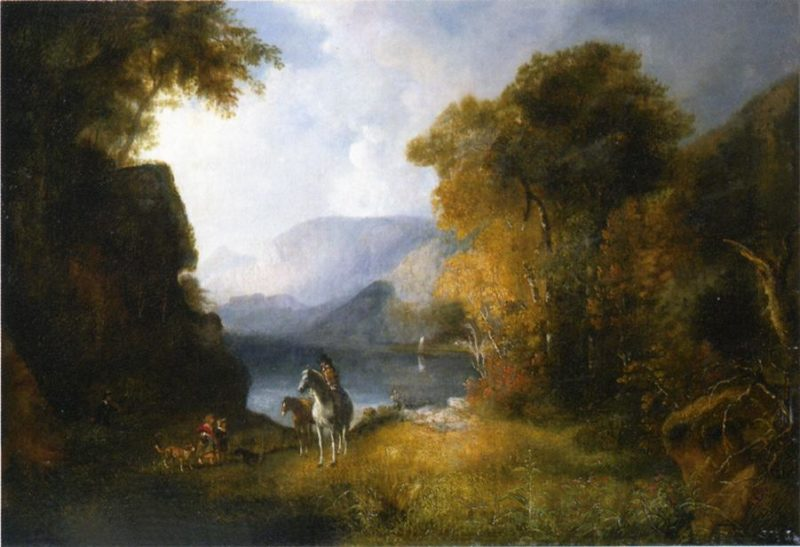By the Waterside   Alvan Fisher   oil painting
