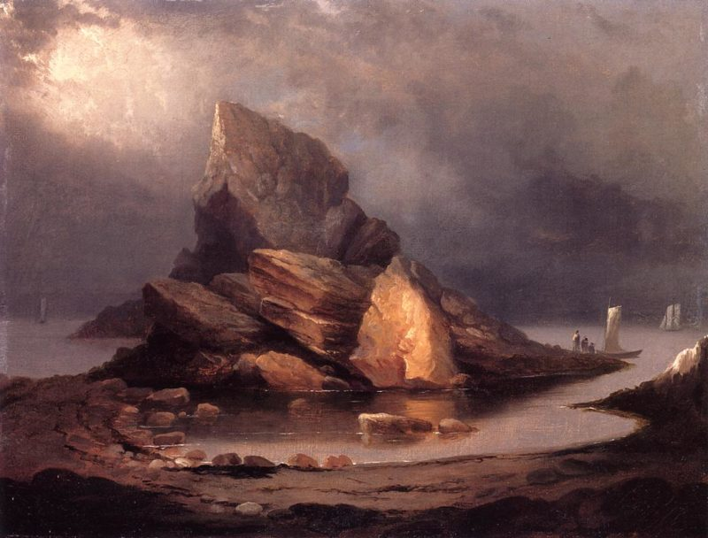 Coastal Scene Nahant Massachusetts | Alvan Fisher | oil painting