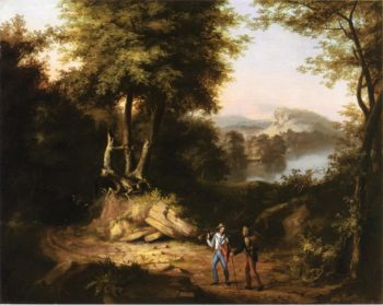 Hunters in a Landscape | Alvan Fisher | oil painting