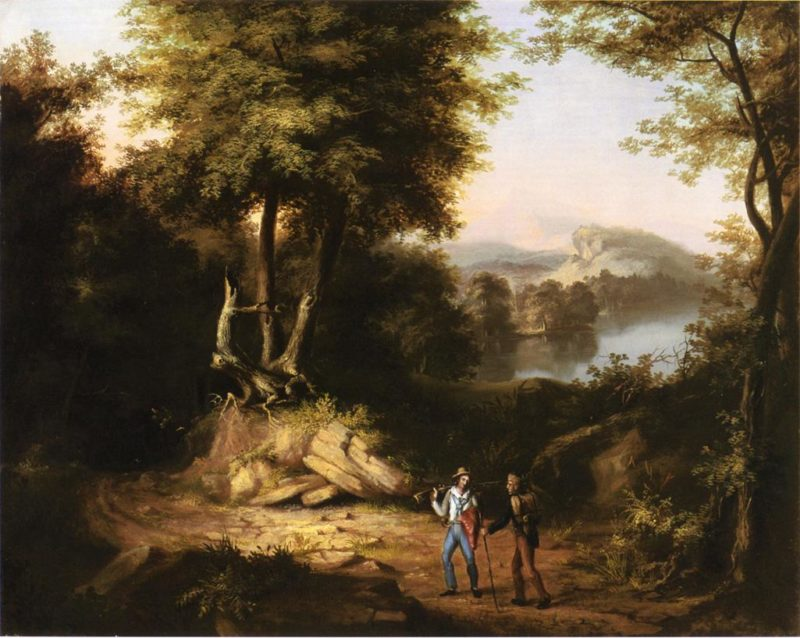 Hunters in a Landscape   Alvan Fisher   oil painting