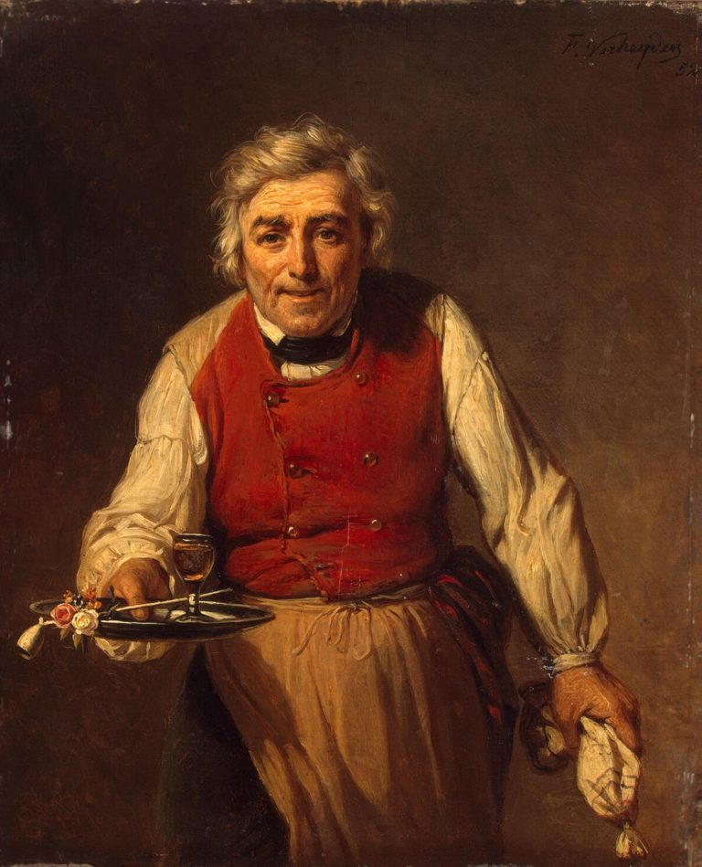 Servant with a Tray | Verheyden Francois | oil painting