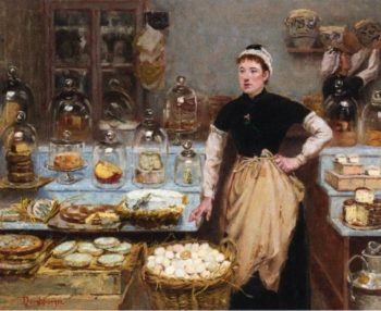 The Cheese Vendor | Edouard Jean Dambourgez | oil painting