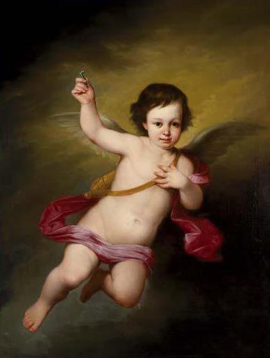 Angel   Antonio Maria Esquivel   oil painting