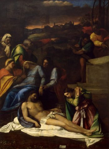 Lamentation | Luciani Sebastiano (Sebastiano del Piombo) | oil painting