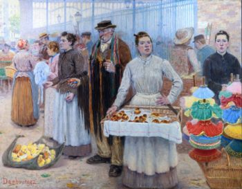 The Tinker Dealers of Les Halles | Edouard Jean Dambourgez | oil painting
