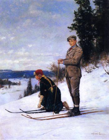 Cross Country Skiing | Axel Hjalmar Ender | oil painting