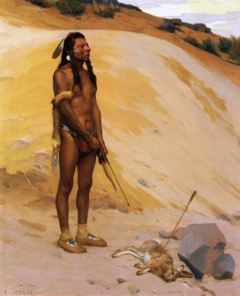 An Indian Hunter | E Irving Couse | oil painting