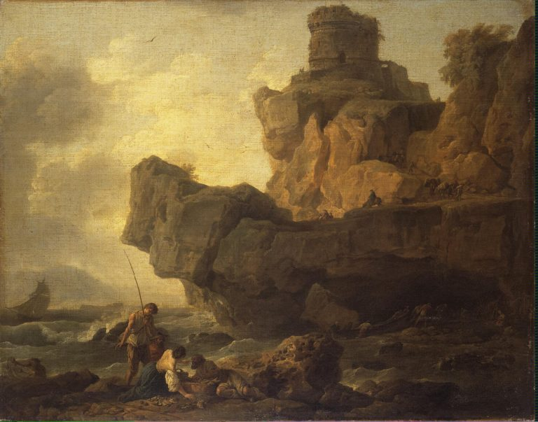 Rocks on a Seashore | Vernet Claude Joseph | oil painting