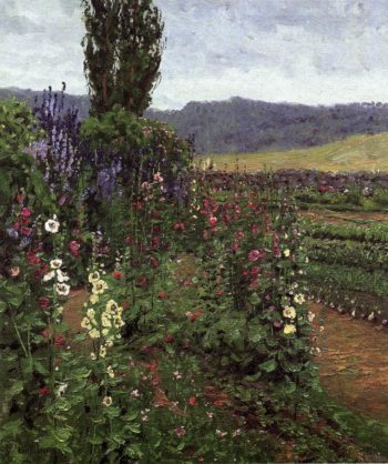 Hollyhock Path | Ben Foster | oil painting