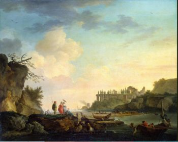 Ruins near the Mouth of a River | Vernet Claude Joseph | oil painting