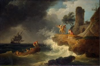 Storm by a Rocky Shore | Vernet Claude Joseph | oil painting