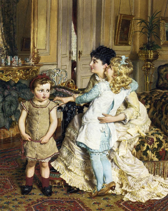 Motherly Love   Edgard Pieter Josef Farasyn   oil painting