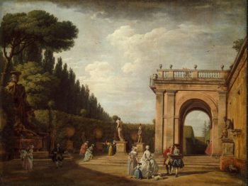 View of the Villa Ludovisi Park in Rome | Vernet Claude Joseph | oil painting