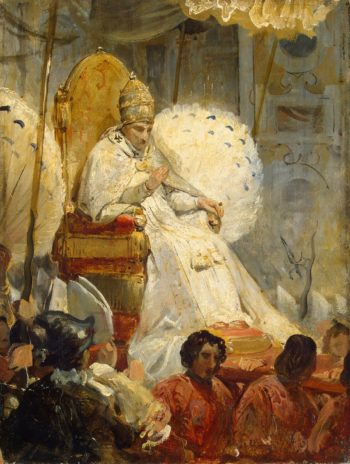 Ceremonial Carrying of Pope Pius VIII into the St Peter Cathedral in 1829 | Vernet Horace | oil painting