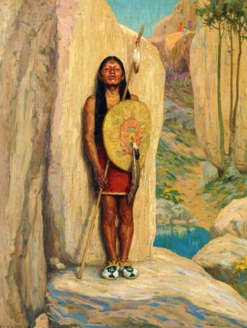 The Sentinel | E Irving Couse | oil painting