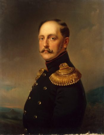 Portrait of Emperor Nicholas I | Vernet Horace | oil painting