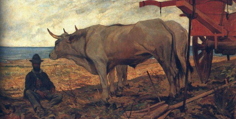 Il carro rosso | Giovanni Fattori | oil painting