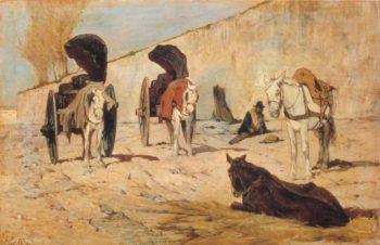 Il Riposo | Giovanni Fattori | oil painting