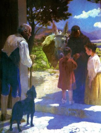 Escena en la Iglesia | Fernando Cabrera Canto | oil painting