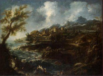 Seashore | Magnasco Alessandro (Lissandrino) Peruzzini Antonio Francesco | oil painting