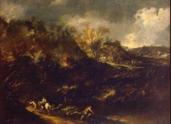 Mountainous Landscape | Magnasco Alessandro (Lissandrino) | oil painting