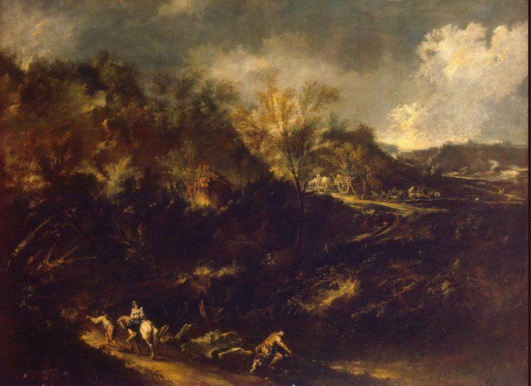 Mountainous Landscape   Magnasco Alessandro (Lissandrino)   oil painting