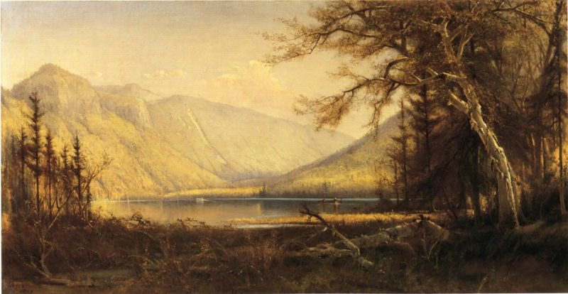 Boating in the Adirondacks   Henry A Ferguson   oil painting