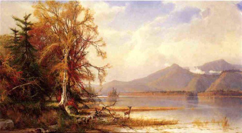 Mountain Lake in Autumn | Henry A Ferguson | oil painting