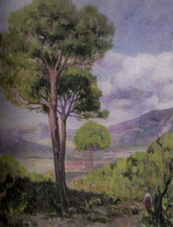 Paisaje con arbol | Fernando Cabrera Canto | oil painting