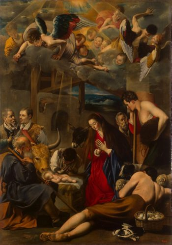 Adoration of the Shepherds | Maino Juan Bautista | oil painting