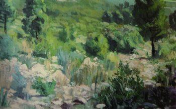 Paisaje Verde | Fernando Cabrera Canto | oil painting