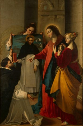 Appearance of the Virgin to St Dominic in Soriano | Maino Juan Bautista | oil painting