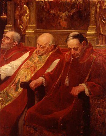 Sermon soporofero | Fernando Cabrera Canto | oil painting