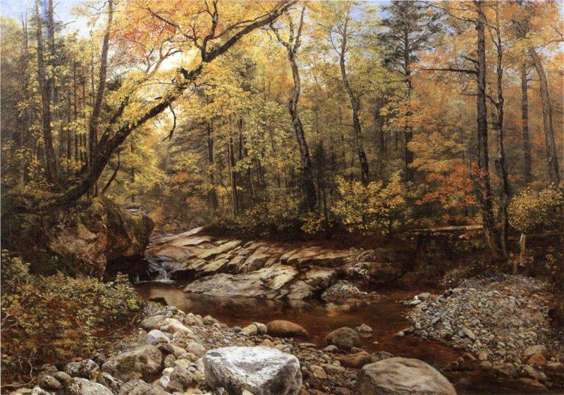 Brook in Autumn Keene Valley Adirondacks | John Lee Fitch | oil painting