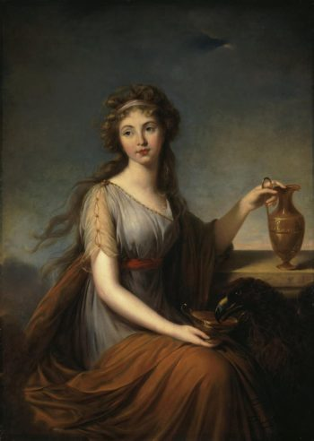 Portrait of Anna Pitt as Hebe | Vigee Le Brun Elisabeth-Louise | oil painting