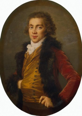 Portrait of Baron Grigory Strogsnov | Vigee Le Brun Elisabeth-Louise | oil painting